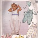 McCalls 4329 (1989) Infants Jumpsuit Romper Hat Pattern Size S M L PART CUT