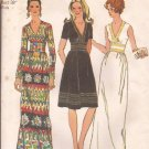 Simplicity 9707 (1971) Vintage V-Neck Maxi Knee Length Dress Pattern Size 16 UNCUT