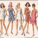 Simplicity8203 (1969) Vintage A-Line Square Neck Side Slits Dress Shorts Pattern Size 16 UNCUT