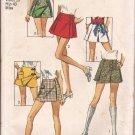 Simplicity 8698 (1970) Vintage Scooter Skort Skirt 3 Variations Pattern Size 16