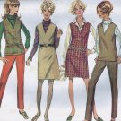 Simplicity 7795 (1968) Vintage V-Neck Jumper Top Skirt Pants Pattern Size 16 UNCUT