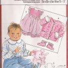 Burda 6154 Infant Toddler Dress Jacket Top Pants Booties Pattern Size 3M 6M 12M 18M 2 3 UNCUT