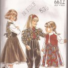 New Look 6612 Girls Vest Jacket Skirt Pants Pattern Size 4 5 6 7 8 9 10