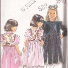 New Look 6611 Toddler Girls Long Short Sleeve Dress Vest Pattern Size 3 4 5 6 7 8 UNCUT