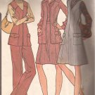 McCalls 3772 (1973) Vintage Princess Front Zip Jumper Dress Vest Skirt Pants Pattern Size 14 CUT