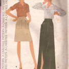 McCalls 3833 (1973) Vintage Blouse Long Short Skirt Patch Pockets Pattern Size 14
