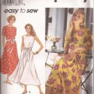 Simplicity 8222 (1992) Petite Dress Gore Skirt Elastic Waist Tie Belt Pattern Size 6 8 10 PART CUT