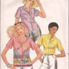 Butterick 3669 Classic Front Button Shirt Blouse Patch Pockets Collar Variations Pattern CUT