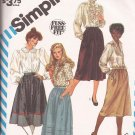 Simplicity 6370 (1983) Fuss Free Fit Skirt Variations Pattern Size 14 PART CUT