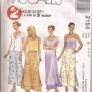 McCalls 2154 (1999) 2 Hour Skirt Overlay Waistband Slits Pattern Size 8 10 12 UNCUT