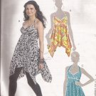 McCalls 6119 (2010) Halter Top Tunic Flutter Pointed Hem Pattern Size 14 16 18 20 UNCUT