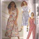 McCalls 4818 (1990) Sleeveless Jumpsuit Sundress Jumper Pattern Size 8 10 12 PART CUT