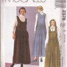 McCalls 2376 (1999) Scoop Neck Pleated Skirt Pullover Jumper Dress Pattern Size 10 12 14 UNCUT