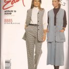 McCalls 8885 (1997) Lined Long Vest Pull-on Pants Front Button Skirt Pattern Size 10 12 14 16 UNCUT