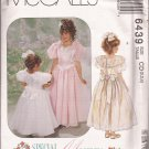 McCalls 6439 (1993) Childs Girls Special Moments Dresses Attached Petticoat Pattern Size 2 3 4 UNCUT