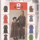 McCalls 9484 (1998) Childs Girls Button Bodice 8 Great Looks Dresses Pattern Size 3 4 5 UNCUT