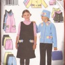 Butterick 6367 (1999) Girls Jacket Vest Jumper Skirt Pants Hat Applique Pattern 12 14 16 PART CUT