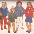 Butterick 6804 Childrens Girls Hoodie Jacket Variations Pattern Size 7 8 10 PART CUT