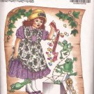 Butterick 6604 (1993) Molly Makebelieve Childs Girls Dress Pinafore Pattern Size 2 3 4 5 6 PART CUT