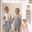 McCalls 2033 (1999) Toddlers Romper Dress Jacket Shirt Applique Pattern Size 1 2 3 PART CUT