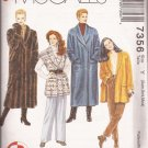 McCalls 7356 (1994) Shawl Collar Oversized Coat Jacket Vest Pattern Size XS S M 4 6 8 10 12 14 UNCUT