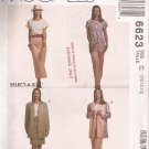 McCalls 6623 (1993) Cardigan Cap Sleeve Tunic Top Pull-on Skirt Pants Pattern Size 10 12 14 UNCUT