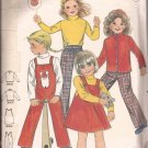 Butterick 3370 Childs Girls Jacket Jumper Overalls Top Pants Pattern Size 6X PART CUT
