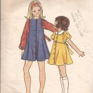 Butterick 3016 Childs Girls A-Line Round Collar Puff Sleeves Dress Pattern Size 8 CUT