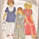 Butterick 5690 Childs Girls Round Neck Front Back Yoke Puff Sleeves Dress Pattern Size 6X PART CUT
