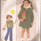 Simplicity 8178 (1977) Childs Girls Dress Top Yoke Elastic Waist Pants Pattern Size 6 PART CUT