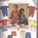 Simplicity 7235 (1996) Babies Jacket Romper Knit T-Shirt Pants Shorts Pattern Size NB S M L PART CUT