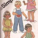 Simplicity 5469 (1982) Toddler Jumpsuit Romper Sundress Panties Pattern Size 1/2 1 PART CUT