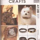 McCalls 4128 (2003) Small Pet Cat Dog Carriers Collars Pattern PART CUT