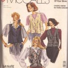 McCalls 0021 (1989) Unlined Flared Sem-Fitted V-Neck Welts Ties Tabs Pockets Pattern PART CUT