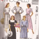 McCalls 4738 (1990) Jewel Neck Elastic Waist Pockets Belt Pattern Size 10 12 14 PART CUT