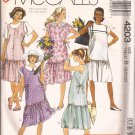 McCalls 4203 (1989) Maternity Drop Waist Jumper Dress Pattern Size 8 10 12 CUT