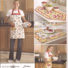 Simplicity 2691 (2009) Table Runner Place Mats Reversible Arpon Pattern Size S M
