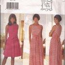 Butterick 3935 (1995) Sleeveless Wide Front Back Ties Back Zipper Dress Pattern Size 14 16 CUT to 16