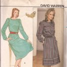 Butterick 4584 Loose Hemline Band Square Neck Zip Back Elastic Waist Dress Pattern Size 8 10 CUT