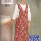 Butterick 3604 (1994) V-Neck Deep Armhole Jumper Dress Long Sleeve Top Pattern Size 12 14 16 CUT