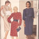 Butterick 6679 Pullover Dress Tucks Elastic Waist Wrap Tie Pockets Pattern Size 8 CUT