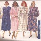 Butterick 4394 (1989) Maternity Dress Raised Waist Front Tucks Button Wrap Pattern CUT