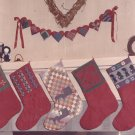 1985 Amish Christmas Stockings Dolls Heart Swag Quilted Applique Pattern