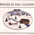 "Hand Machine Applique Winter Country (1982) Sleigh Amish Buggy Christmas Snow 17"" x 27"" Oval Hoop"
