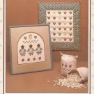 Plantation Sampler Doll Quilt Seed Bag Hearts Apples Stencil Pattern Applique
