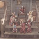 "1983 Country Bumpkin Kountry Standing Sitting Jointed Stuffed Bears Pattern 6"" 9"" 10"" 14"" 15"" 18"""