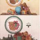 GGP 055 (1983) Stuffed Jointed Teddy Bear Ball Blocks Christmas Nursery Hoop Applique Pattern