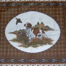 "Hunting Bird Dog Pillow Wall Hanging Quilt Look Panel Set Fabric 18"" x 18"""