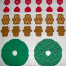 Ginger Bear Christmas Wreath Heart Candy Cane Panel Quilt