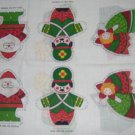 Santa Angel Nutcracker Soldier Mouse Stocking Jack in Box Caroler Fabric Ornaments